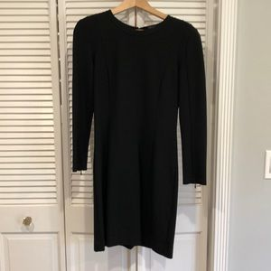 Theory Black Dress with Seam Detail
